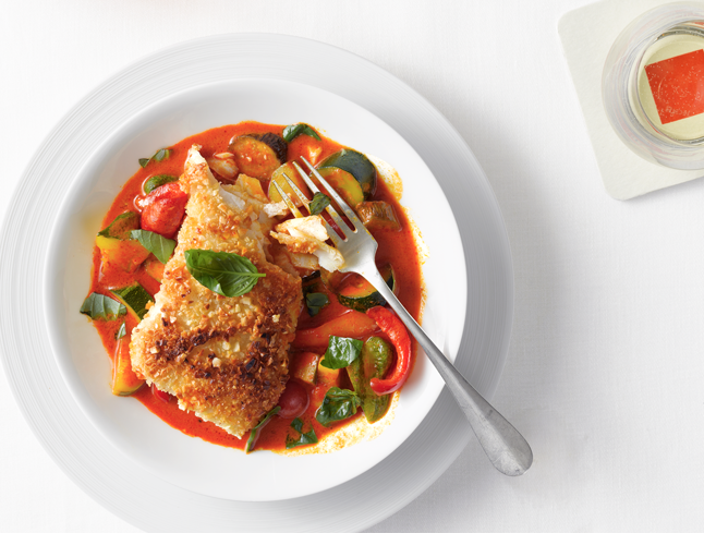 almond-crusted-halibut-with-vegetable-curry-646